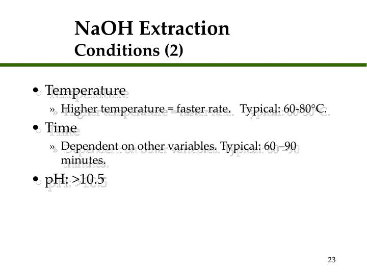 NaOH Extraction