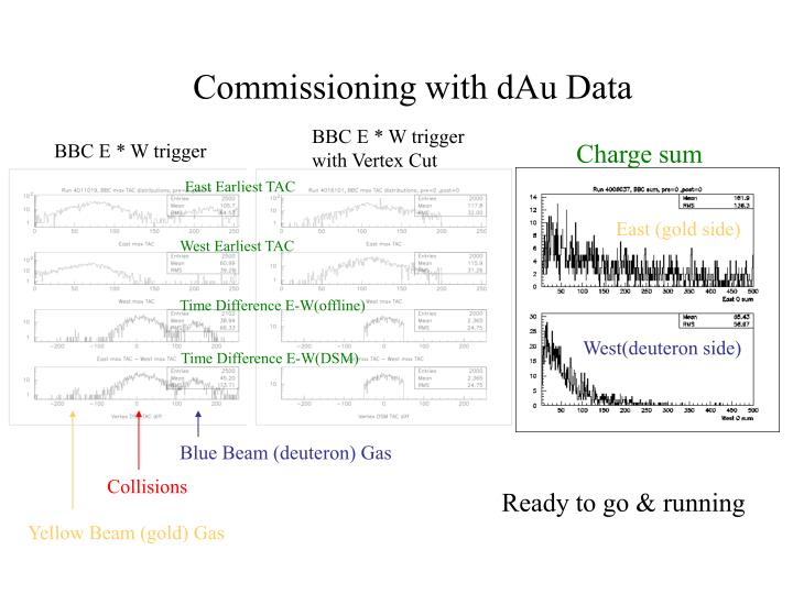 Commissioning with dAu Data