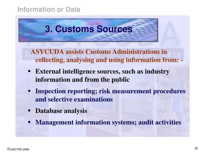 3. Customs Sources