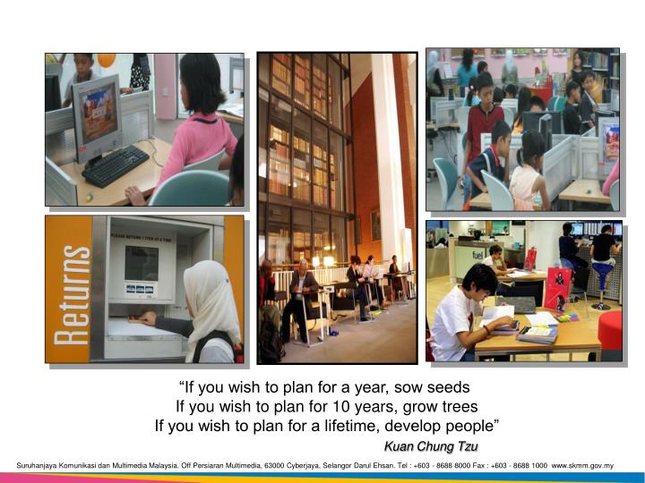 """If you wish to plan for a year, sow seeds"