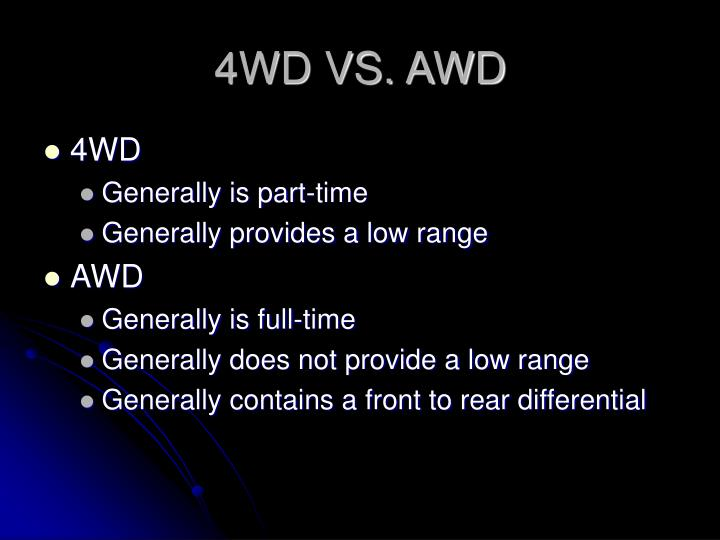 4wd vs awd