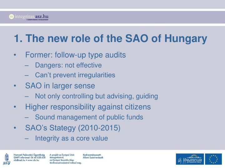 1. The new role of the SAO of Hungary