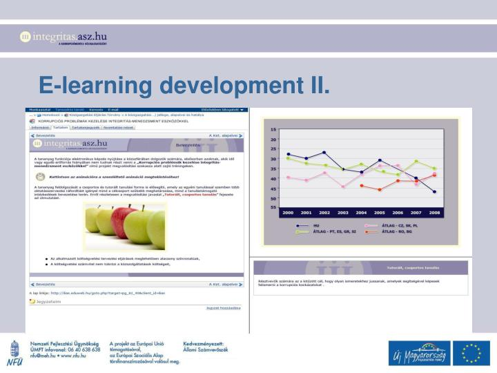 E-learning development II.