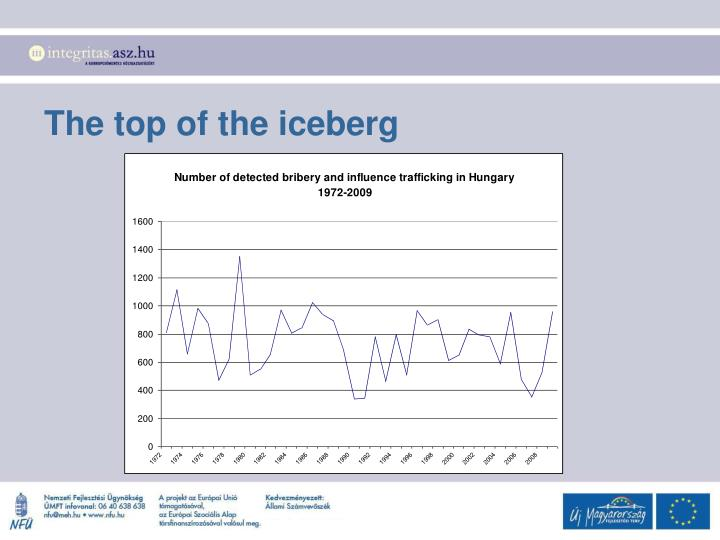 The top of the iceberg