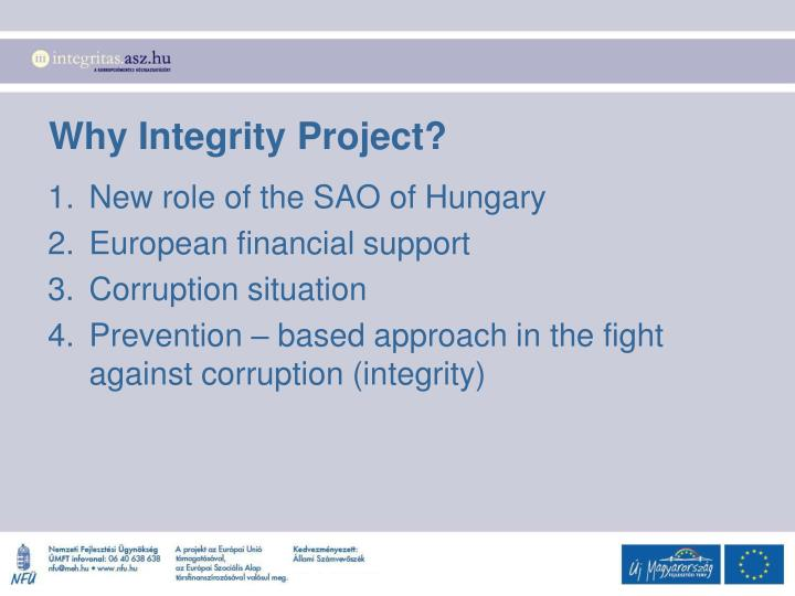 Why Integrity Project?