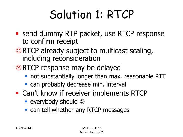 Solution 1 rtcp