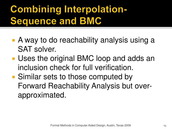 Combining Interpolation-Sequence and BMC