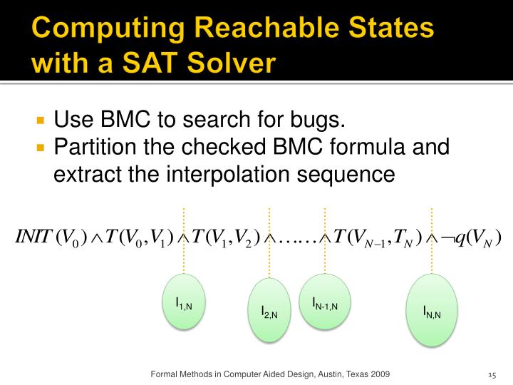 Computing Reachable States with a SAT Solver