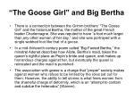 the goose girl and big bertha
