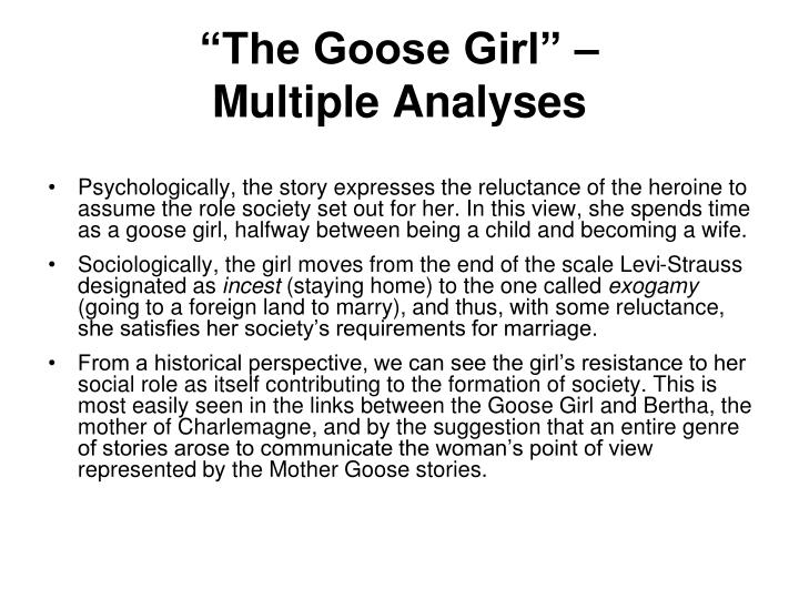 """""""The Goose Girl"""" –"""