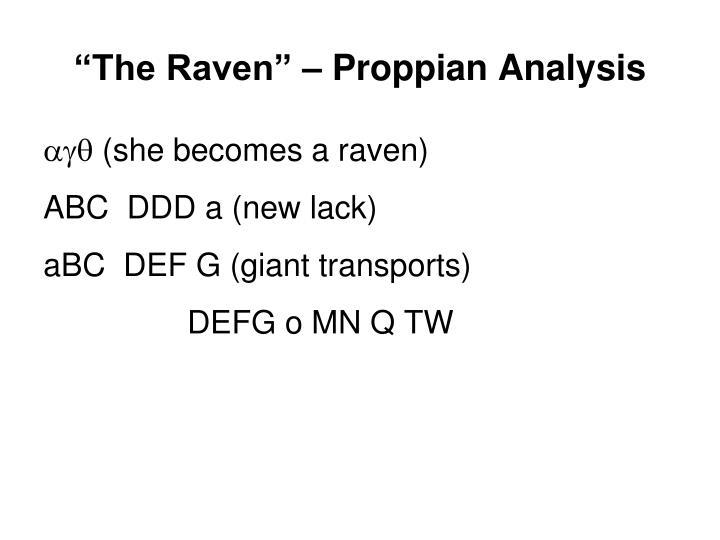 """The Raven"" – Proppian Analysis"