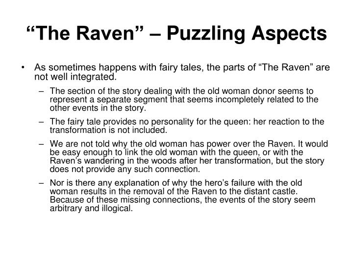 """""""The Raven"""" – Puzzling Aspects"""