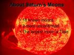 about saturn s moons