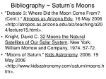 bibliography saturn s moons