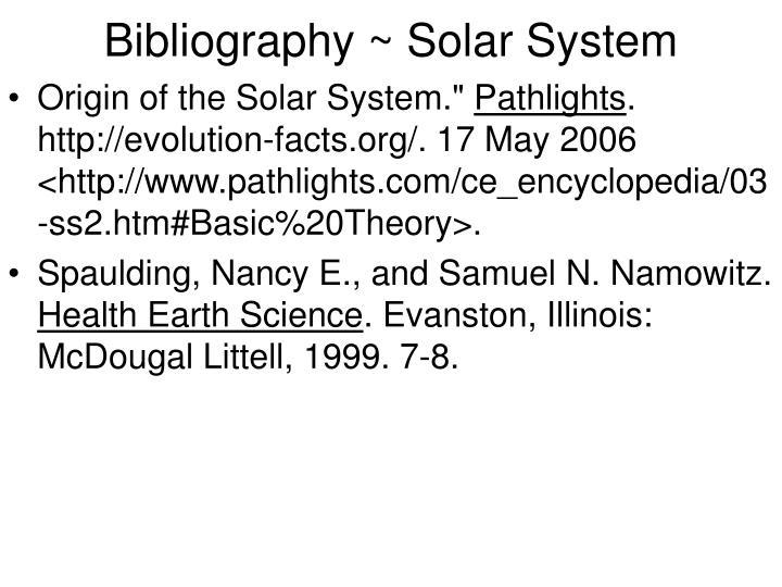 Bibliography ~ Solar System
