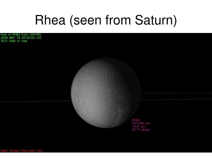 Rhea (seen from Saturn)