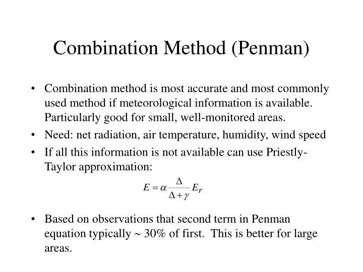 Combination Method (Penman)