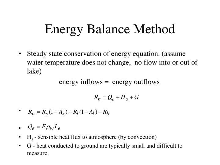 Energy Balance Method