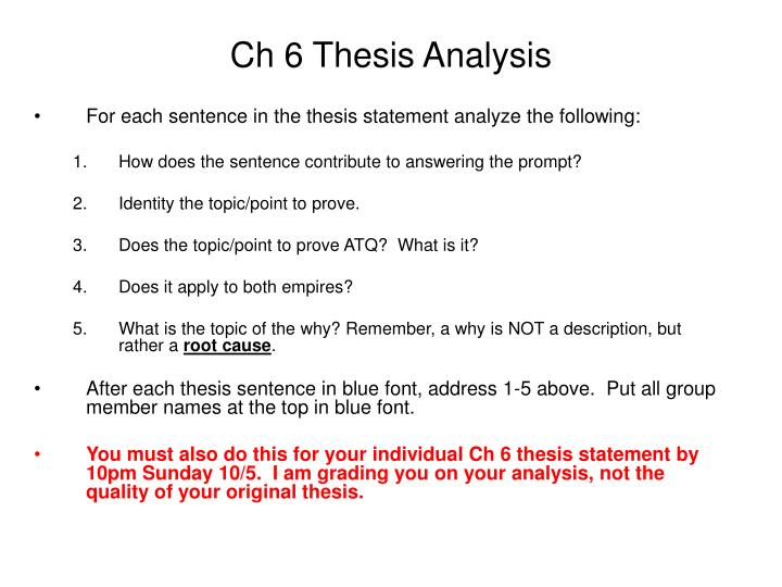 Ch 6 thesis analysis