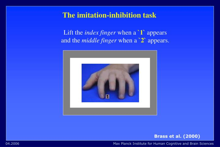 The imitation-inhibition task