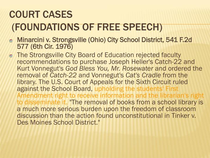 Minarcini v. Strongsville (Ohio) City School District, 541 F.2d 577 (6th Cir. 1976)