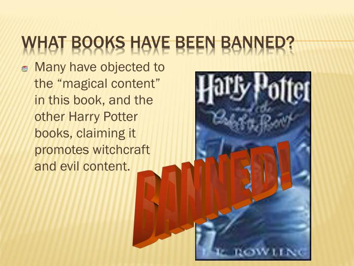 What books have been banned?