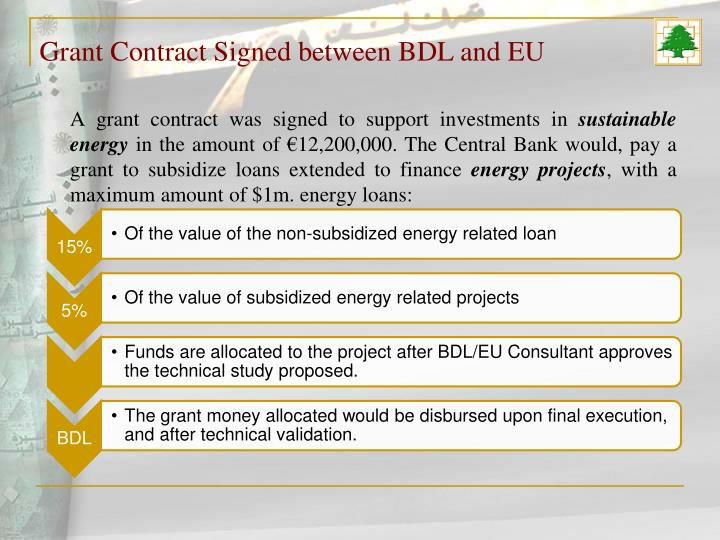 Grant Contract Signed between BDL and EU