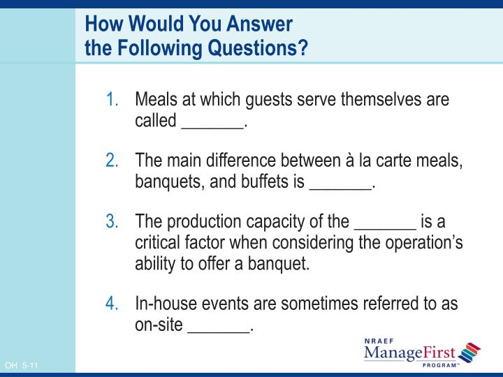 PPT - Banquet and Buffet Food Production PowerPoint ...