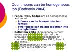 count nouns can be homogeneous too rothstein 2004
