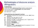 methodologies of discourse analysis bilingualism