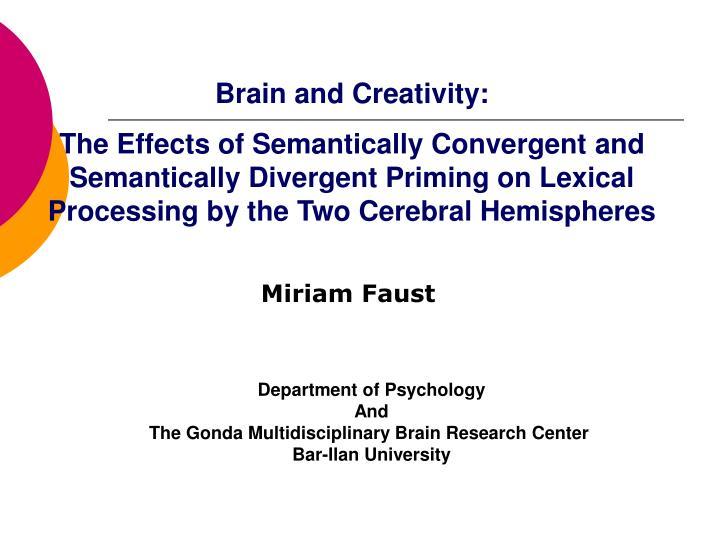 Brain and Creativity: