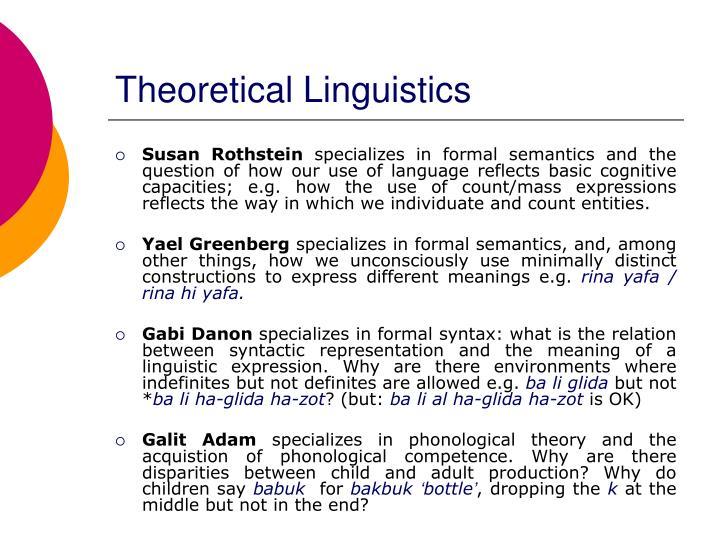Theoretical Linguistics