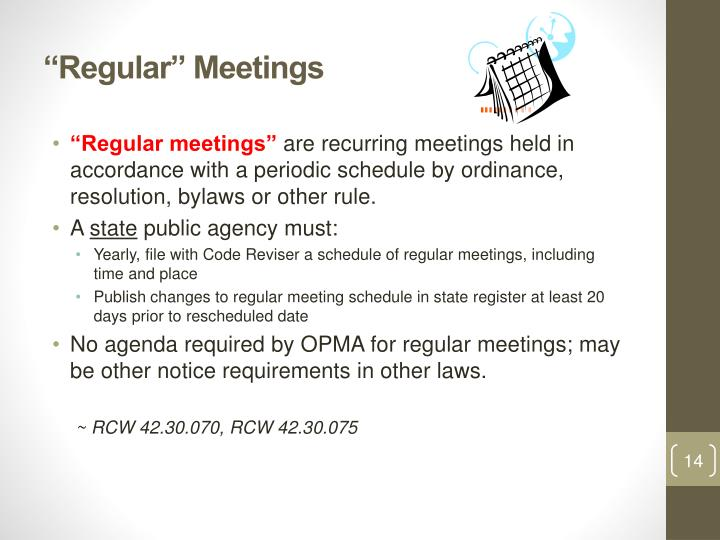 """Regular"" Meetings"