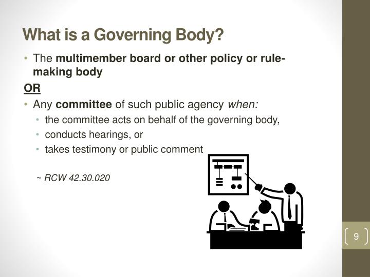What is a Governing Body?