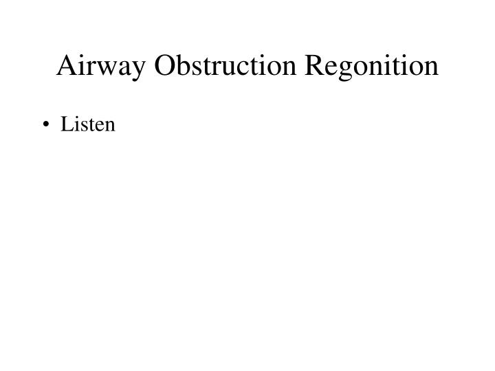 Airway Obstruction Regonition