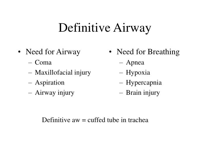 Need for Airway