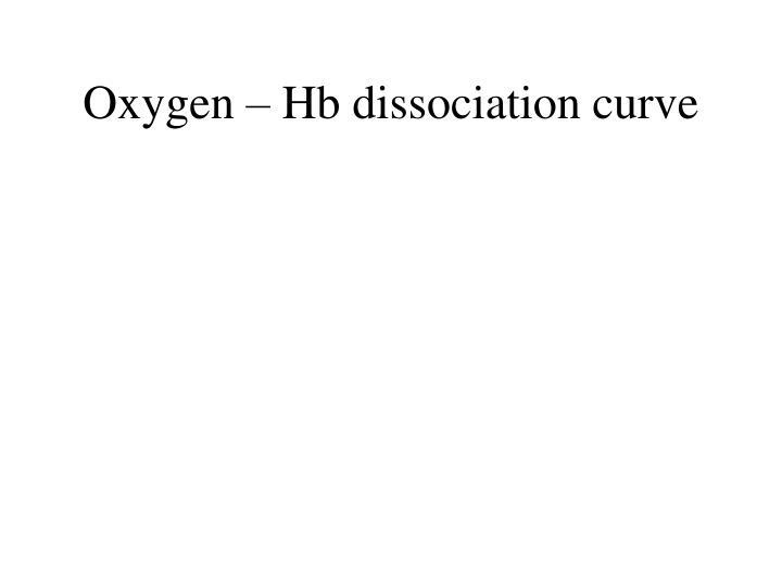 Oxygen – Hb dissociation curve
