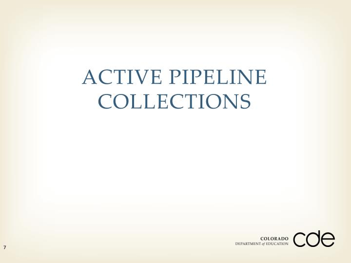 ACTIVE PIPELINE COLLECTIONS