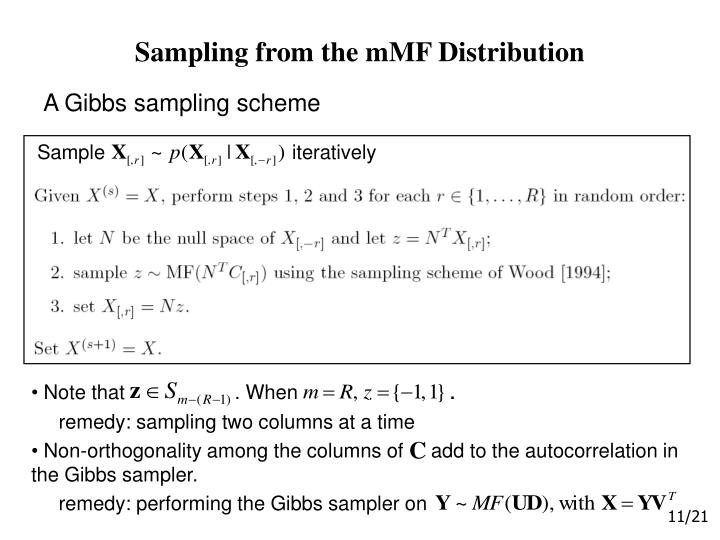 Sampling from the mMF Distribution