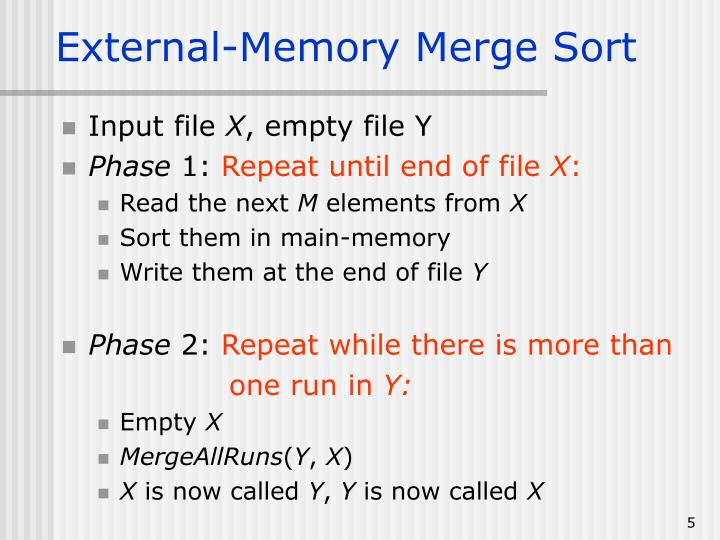 External-Memory Merge Sort