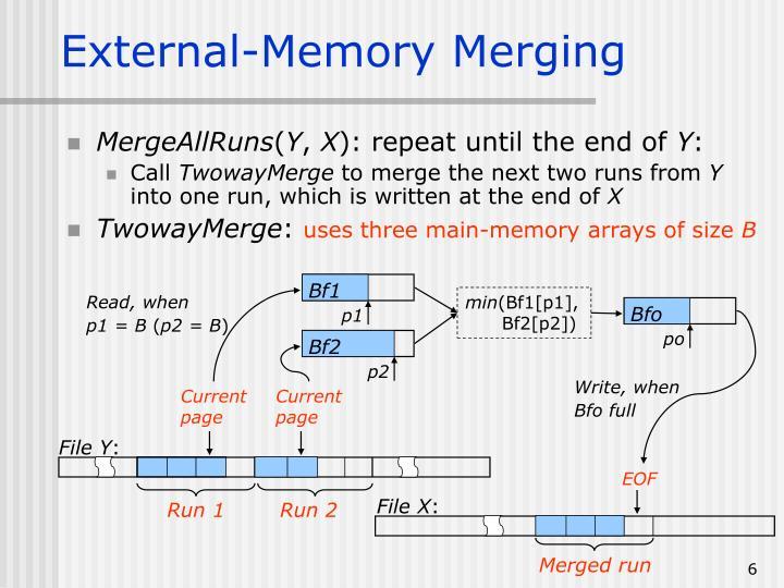 External-Memory Merging