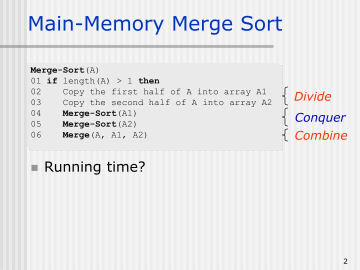 Main-Memory Merge Sort