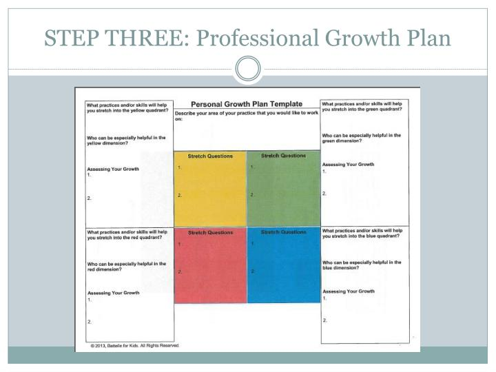 STEP THREE: Professional Growth Plan
