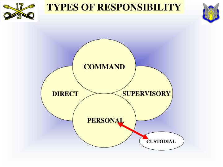 TYPES OF RESPONSIBILITY