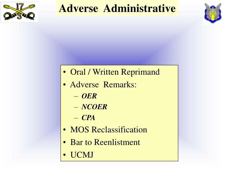 Adverse  Administrative