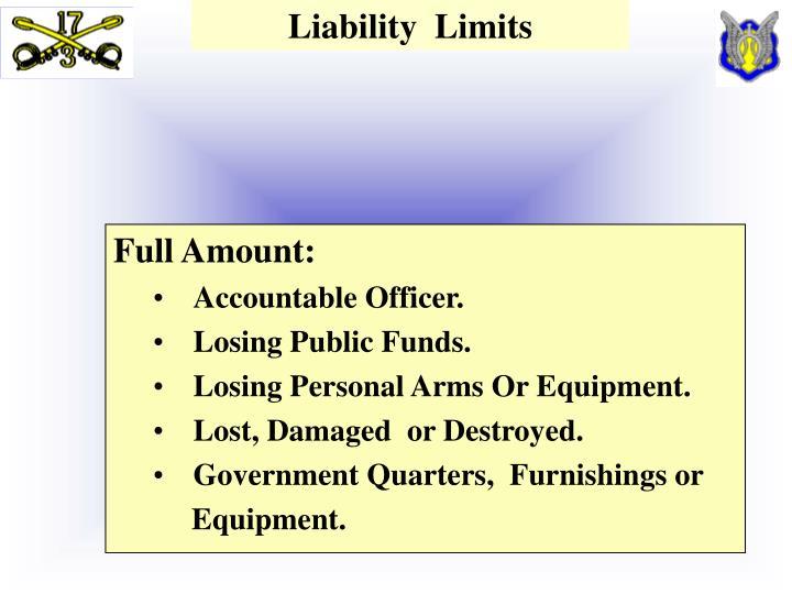 Liability  Limits