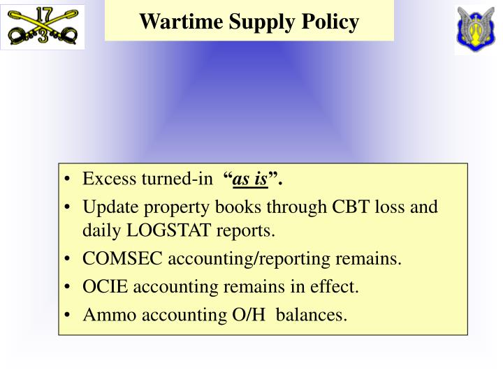 Wartime Supply Policy