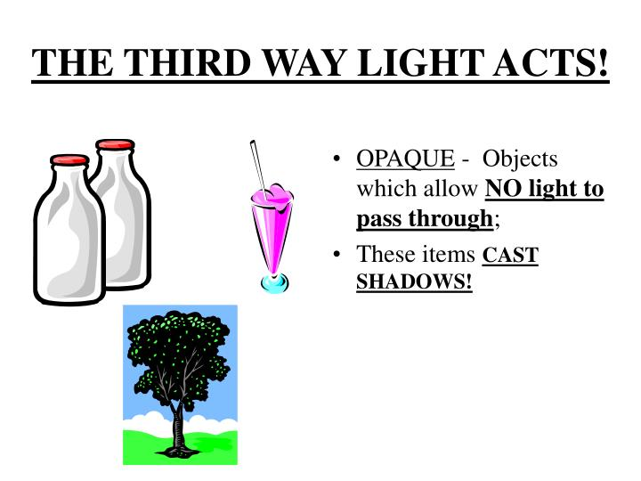 THE THIRD WAY LIGHT ACTS!