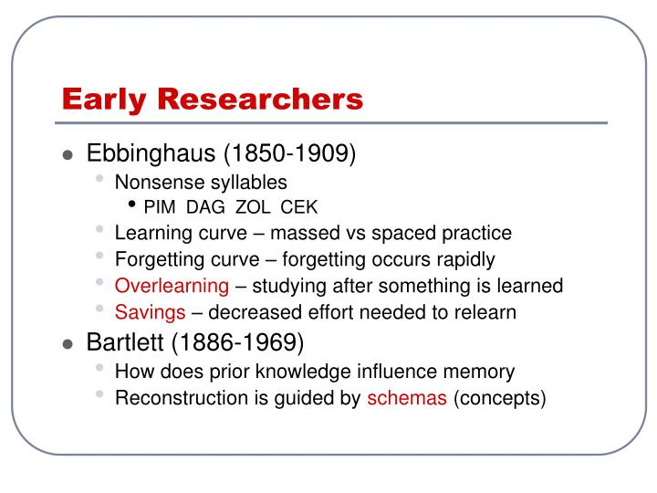 Early Researchers