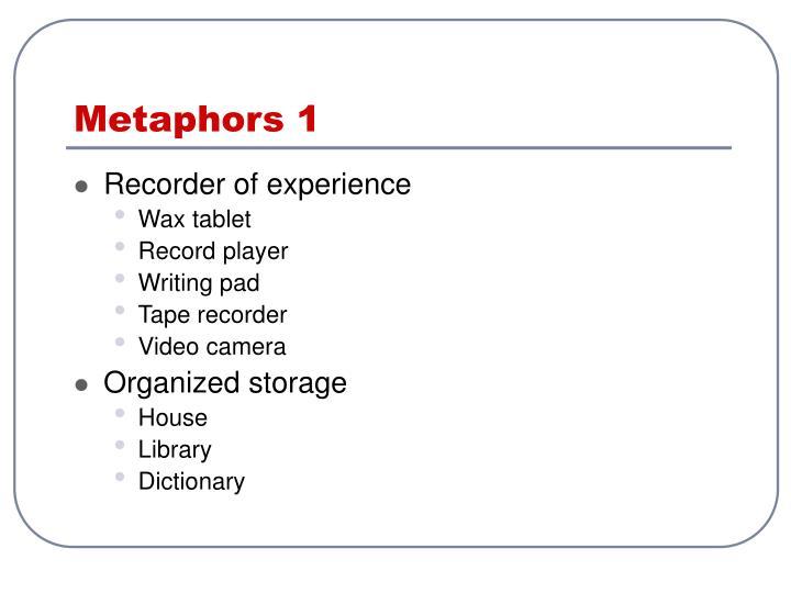Metaphors 1